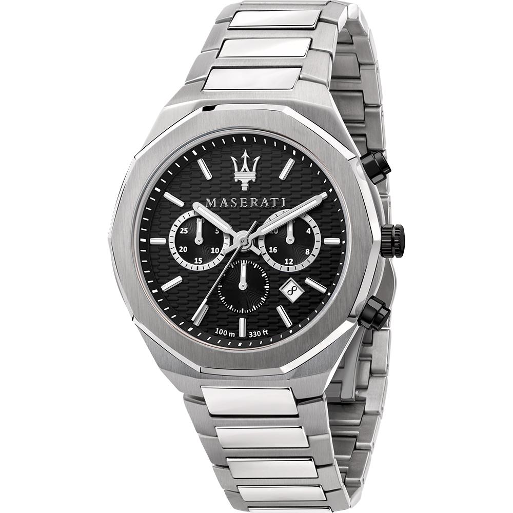 Maserati R8873642004 Stile Black Dial Chronograph Mens Watch