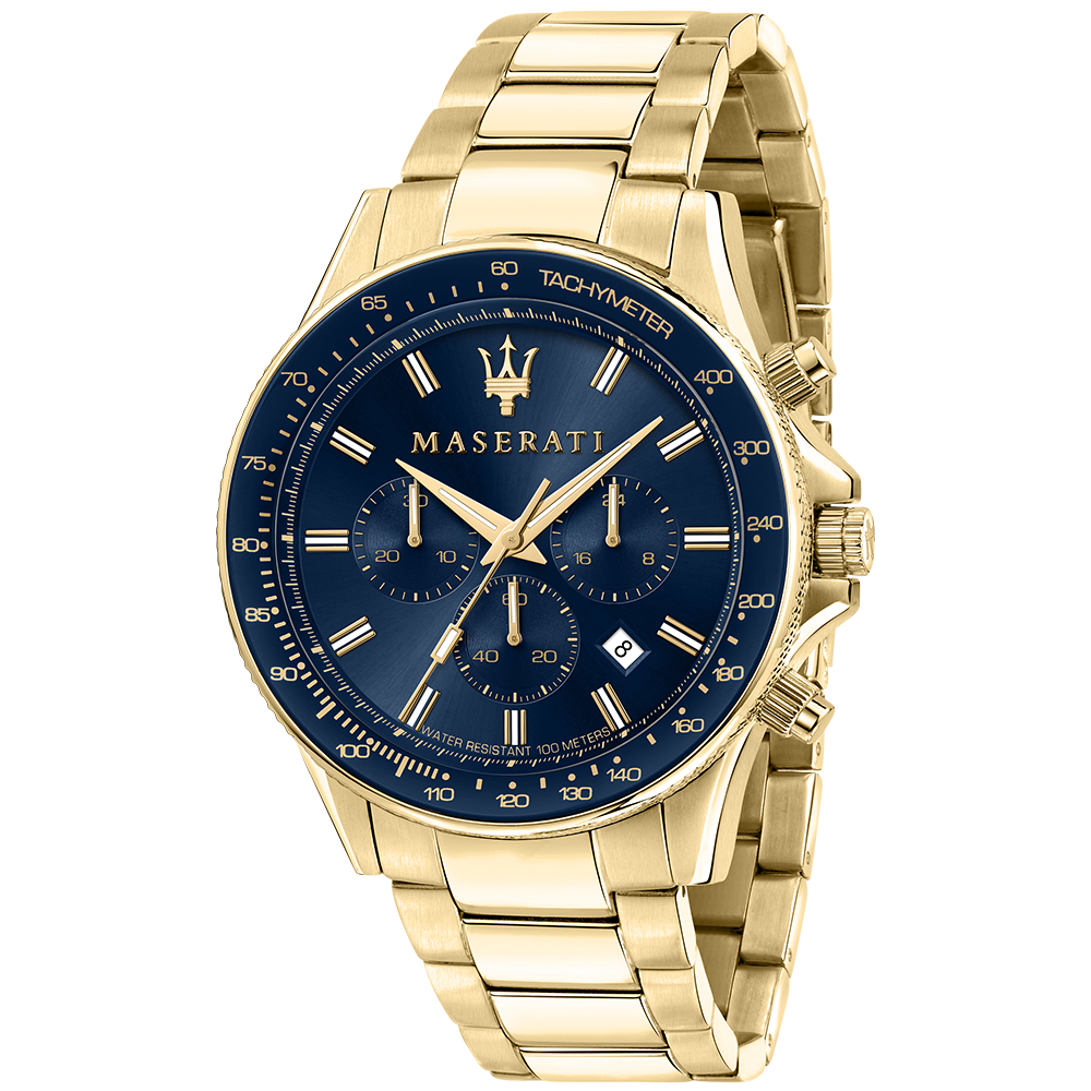 Maserati R8873640008 Sfida Gold Tone Mens Watch