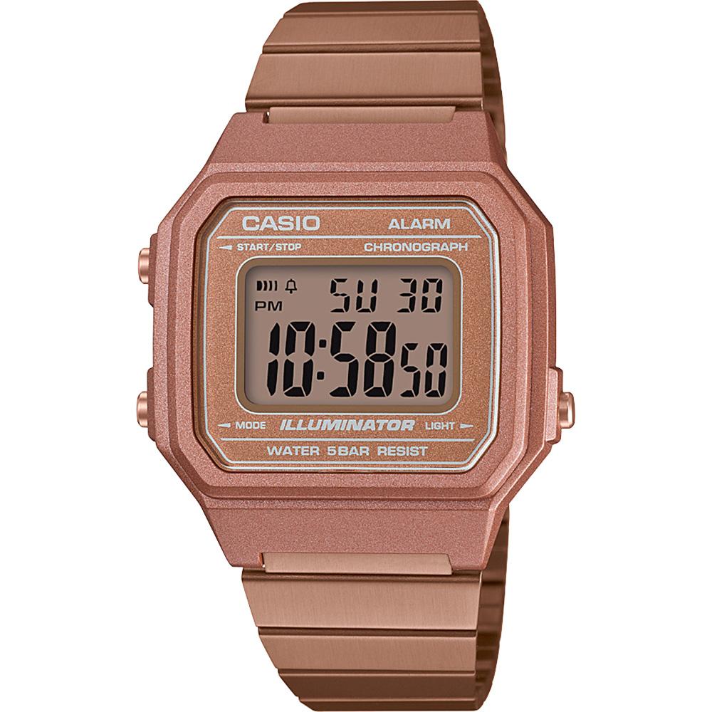 Casio Vintage B650WC-5A Digital Rose Tone Watch