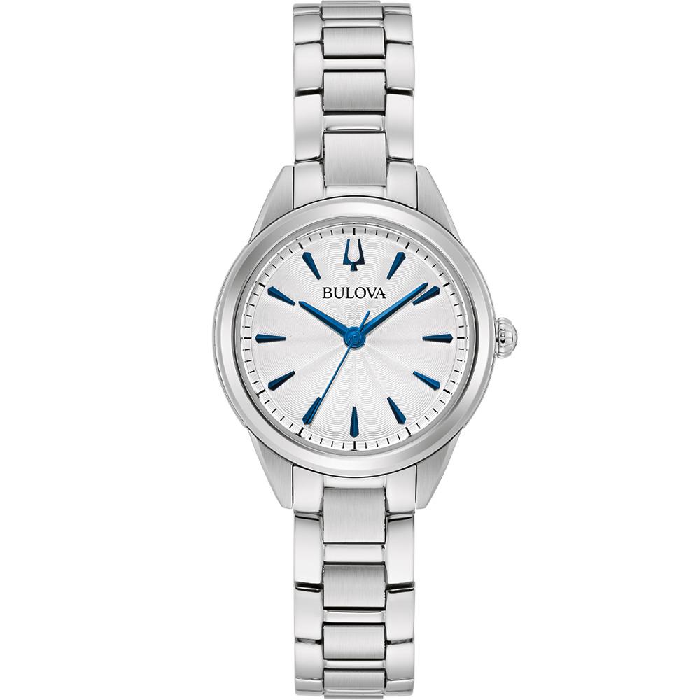 Bulova 96L285 Silver Tone Womens Watch