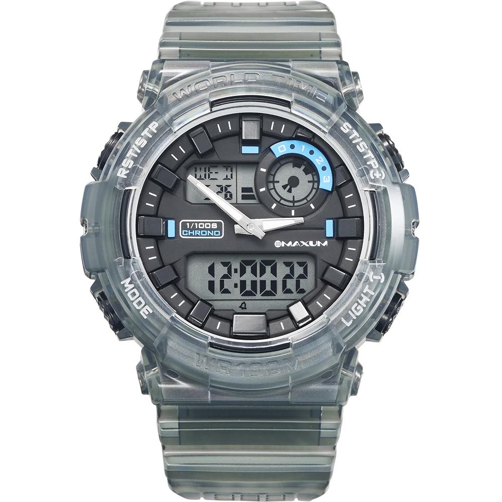 Maxum Polo X2121G2 Black Digital Mens Watch