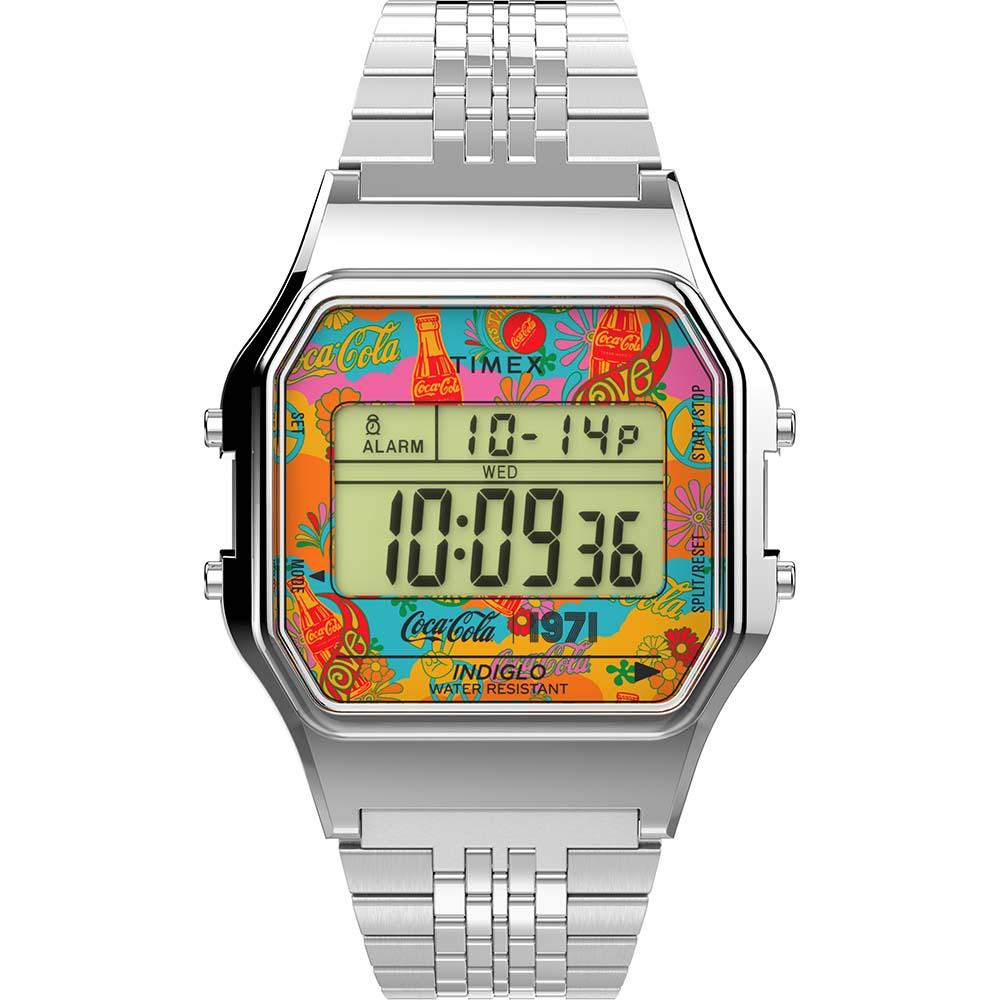 Timex TW2V25900 Classic Coke Theme Digital Watch